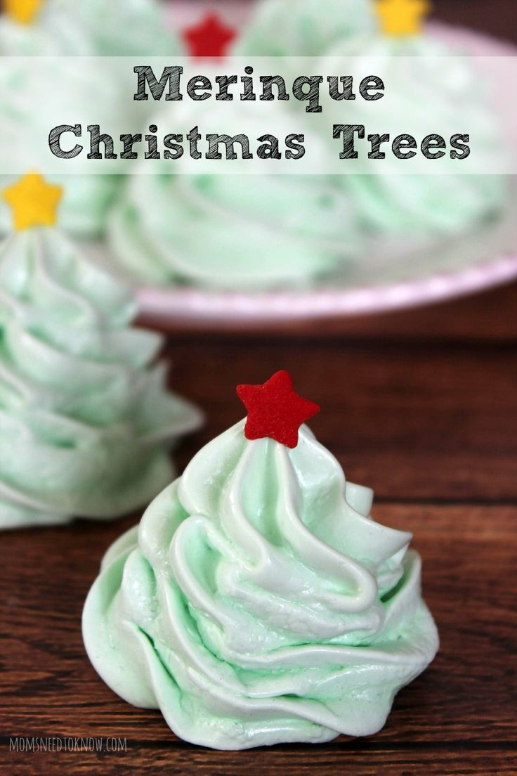 These meringue Christmas trees are so fun to make and a great way to use up any leftover egg whites from your Christmas baking!