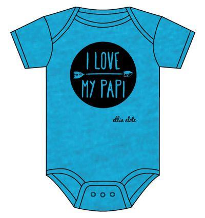I Love My Papi spanglish spanish hispanic español baby infant bodysuit onesie