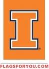 """Illinois Fighting Illini Garden Window Flag 15"""" x 10.5"""""""