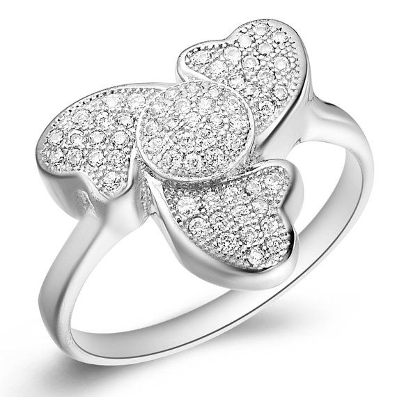 Three Hearts Shaped Rings Fashion Rings by UloveFashionJewelry, $10.56