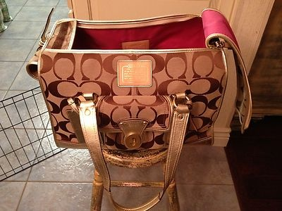 Large Limited Edition Nwot Coach Dog Carrier Travel Bag