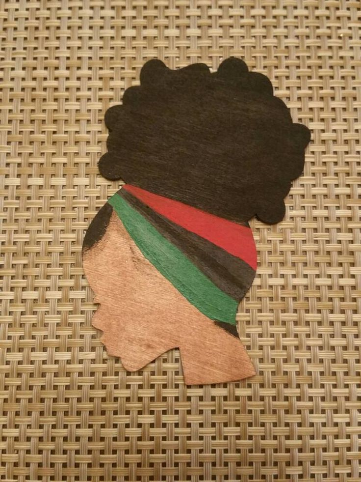 MAGNET/PIN Afro Girl art wooden head silhouette hand painted Red Black Green Kitchen OFFICE African American art Classroom African colors by ReflectionsbyZana on Etsy https://www.etsy.com/listing/268214754/magnetpin-afro-girl-art-wooden-head