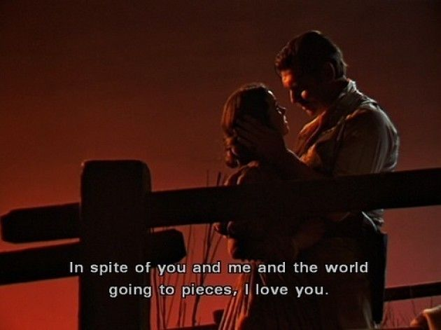 I love u too, Rhett Butler.   (Gone With the Wind)