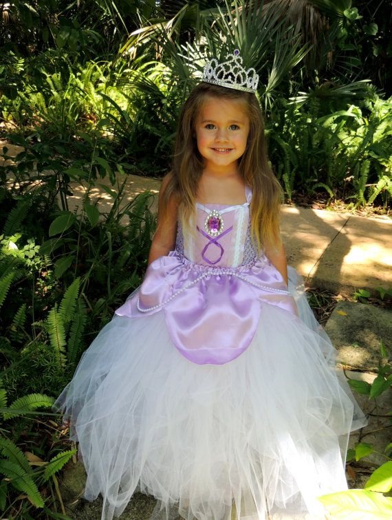 sofia costume sofia tutu dress sofia the first inspired princess halloween costume kids costume - Little Girls Halloween Costume Ideas