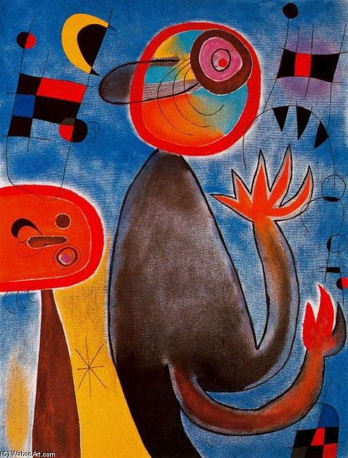 Joan Miro >> Las escaleras de la Cruz El Azure como una rueda de fuego