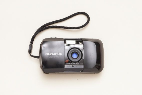 Olympus Mju I Black 35mm Compact Film Camera  Fully by ohsocult