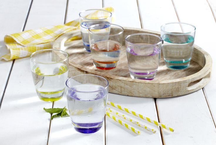 Colourful Water Glasses!  Χρωματιστά ποτήρια νερού.