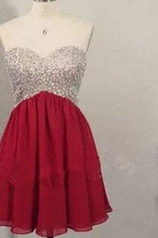 Chiffon Backless Short Prom Dress,Open Back Sweet 16 Dress,Homecoming Dresses uk PM875