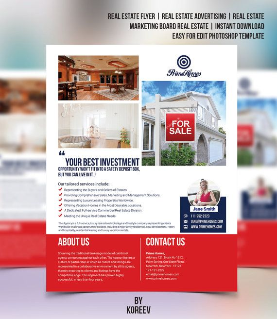 Best Real Estate Advertising Template Images On