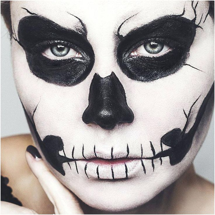 maquillage halloween facile qui fait peur makeup