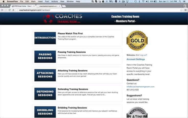 """[SNEAK PEAK VIDEO] Look inside the Coaches Training Room members portal and see what all the hype is about. http://coachestrainingroom.com/enroll-now Here's what Coach Brett Miller has to say about the curriculum: """"""""I love the Coaches Training Room site and i'm working the sessions into my practice plans. I coach U8, U11 and U12 teams for Rec and Travel leagues so your program definitely comes in handy.  - Brett Miller Rec and Travel Soccer Coach #soccercoach"""