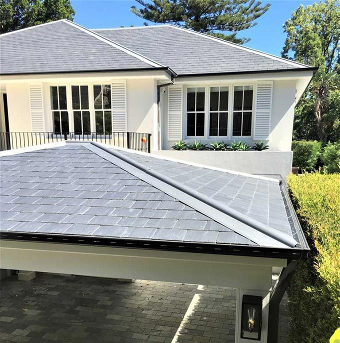 Sydney Carport On The Tiles In 2020 House Roof Roof Styles Structure Design