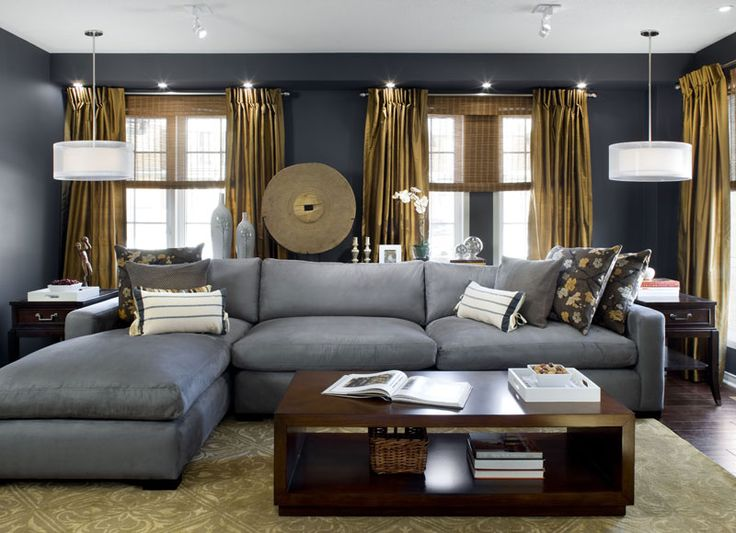 75 best Grey Interior images on Pinterest Living room ideas - gray and gold living room