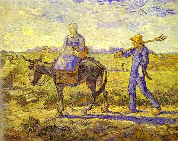 vincent van gogh paintings   Vincent van Gogh Art: Morning, Leaving for Work (Le matin, le départ ...