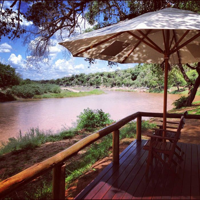The view of the Olifants River from the deck of my Safari Lodge.