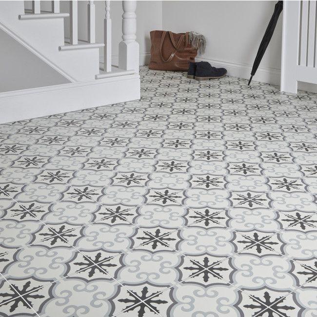 Gres Hydrolic Design 3 Colours 20 X 20 Cm B W Flower 1 M2 Gres Tile Floor Porcelain Flooring Flooring