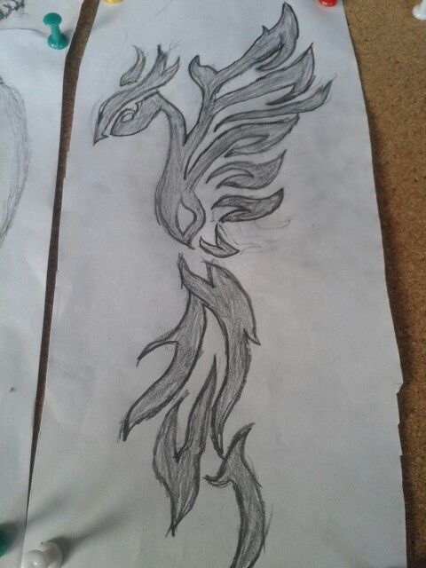 My drawing of a phoenix