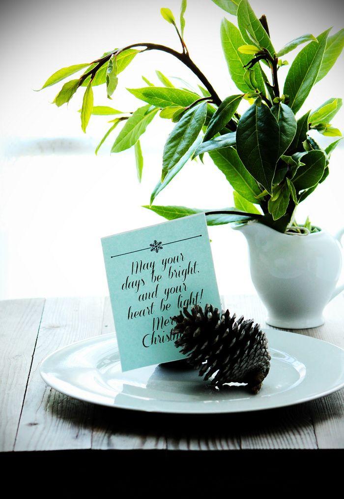 I love this simple #Christmas table setting (via Al Dente Gourmet)