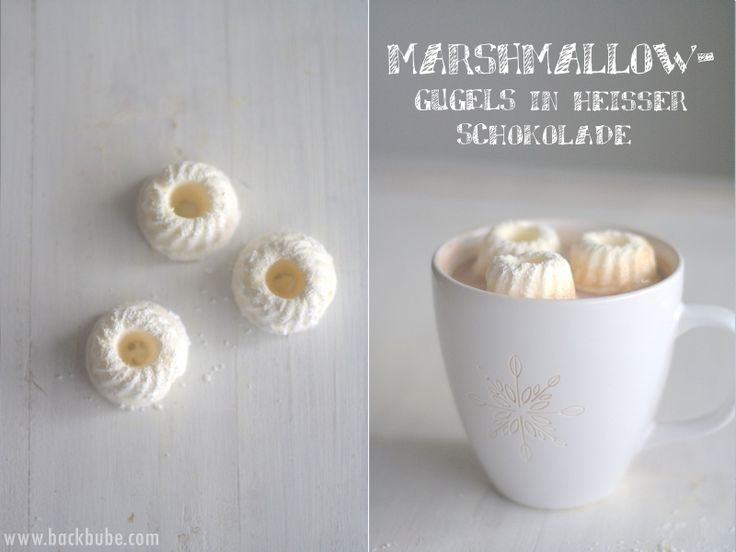 Marshmallow-Gugels in heißer Schokolade