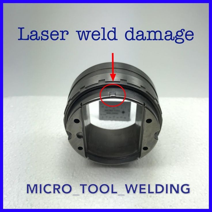 Laser weld damage on core. Using this welding process you can become a welder in 10 minutes. It does not replace experience.
