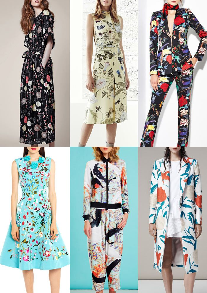 Resort 2015   Catwalk Print  Pattern Trend Highlights Jill Stuart / Gucci / Alicia Olivia / Oscar de la Renta / Clover Canyon / Thakoon