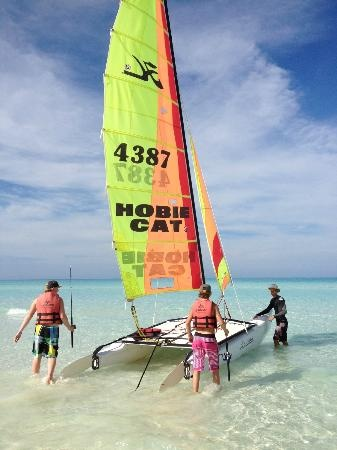 Memories Azul Beach Resort: The free catamarans you can go on anytime on our beach!
