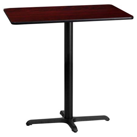 Flash Furniture 24 Inch X 42 Inch Rectangular Laminate Table Top With 22  Inch X 30