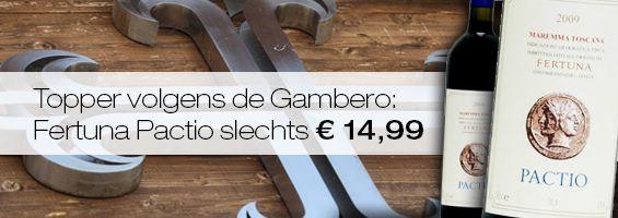 Mooie rode topper uit de #Gamberorosso en dat voor slechts € 14,99 #wijn http://vinaio.nl/Fertuna-Maremma-Toscana-Pactio-2011