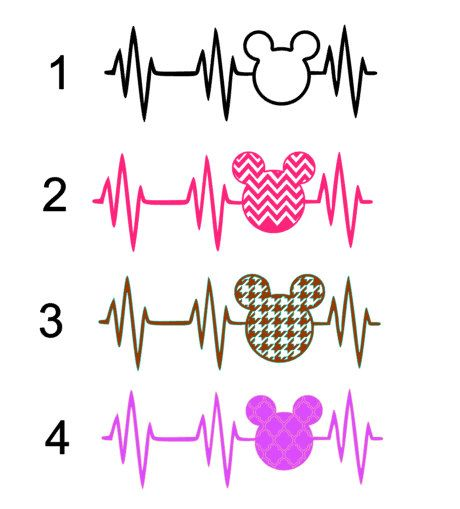 Disney Addict Heart Beat Vinyl Decal, Heartbeat of a Disney Addict car window Disney decal, Disney Heartbeat Yeti Decal,Dinsey Heartbeat Car