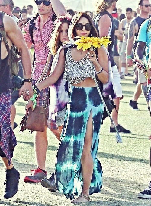 Vanessa Hudgens festival fashion goddess.♡
