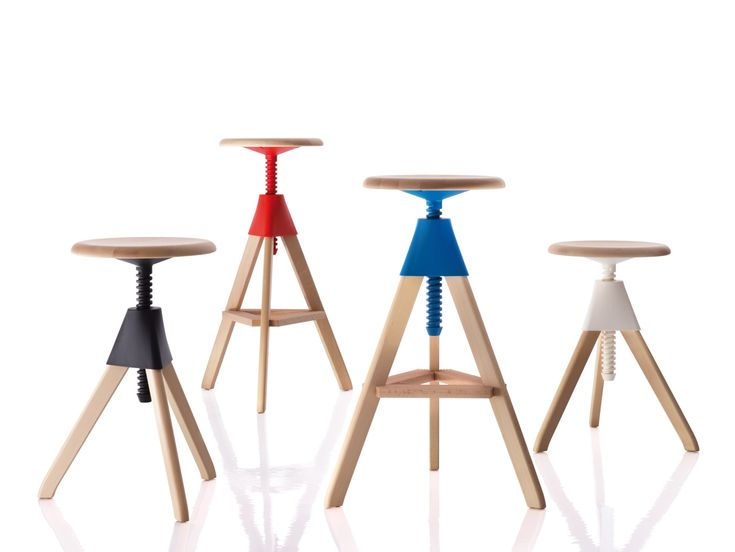 Great Height Adjustable Beech Stool TOM AND JERRY U2013 THE WILD BUNCH By Magis  Design Konstantin