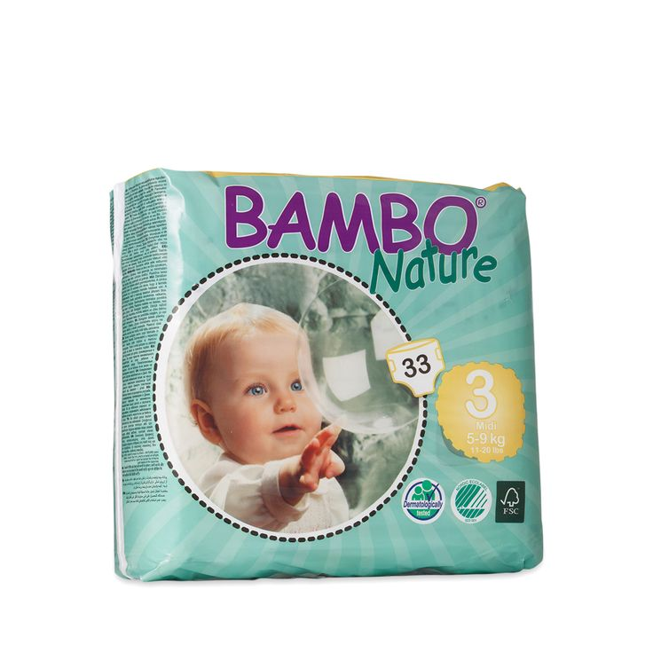 Shop Bambo Nature Baby Diapers, Size 3 (Fits 11-20 lbs) at wholesale price only at ThriveMarket.com