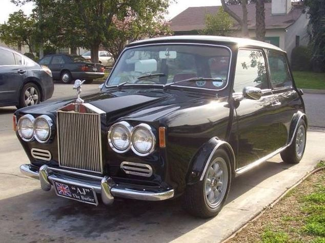 Rolls Royce Mini Is Not Exactly A Real I Know But Couldn T Help Myself Crazy Cars Pinterest Carini