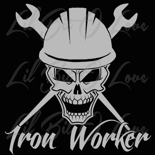 iron worker skull in hard hat with crossed spud wrenches vinyl decal vinyls shops and handmade. Black Bedroom Furniture Sets. Home Design Ideas