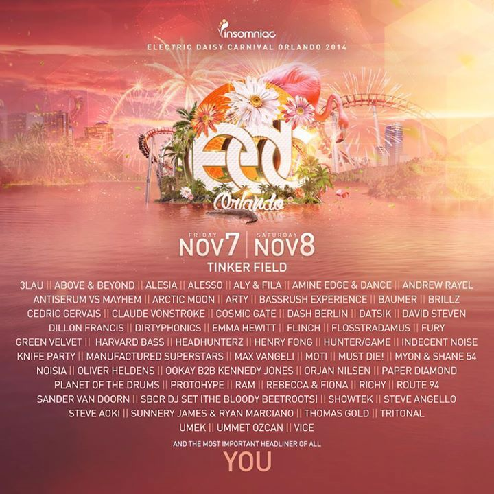EDC Orlando! We never get tired of seeing line ups for these big EDM festivals and this one does not disappoint.@3lau @Alesso @Andrewrayel @dashberlin @dillionfrancis @knifeparty @oliverheldens @steveangello @ummetozcan Check it out! #orlando #edm #trance #housemusic #rave #rage #plur #party #dj #london #ministryofsound #pacha #hau5 #ibiza #ushuaia #miami #vegas #edc #umf #creamfields #tomorrowworld #tmd_music_addicts #tagyourfriends #follow