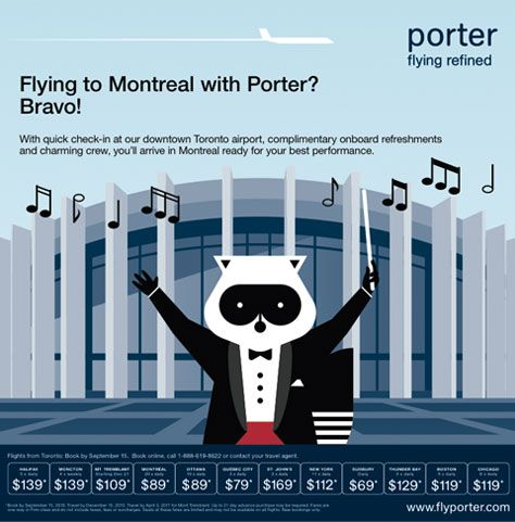 Porter airline graphic design: Simplicity, consistency, duration... LOVE LOVE LOVE