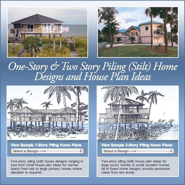 443 best images about houses built hurricane and storm Pier home plans
