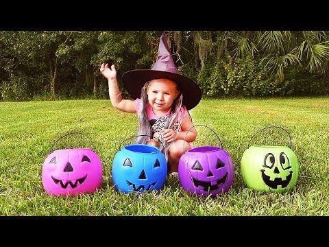 Американские Конфеты 🎃 на Хэллоуин Конфеты и Сюрпризы в Тыкве Halloween на ✿ Kids Diana Show    {{AutoHashTags}}