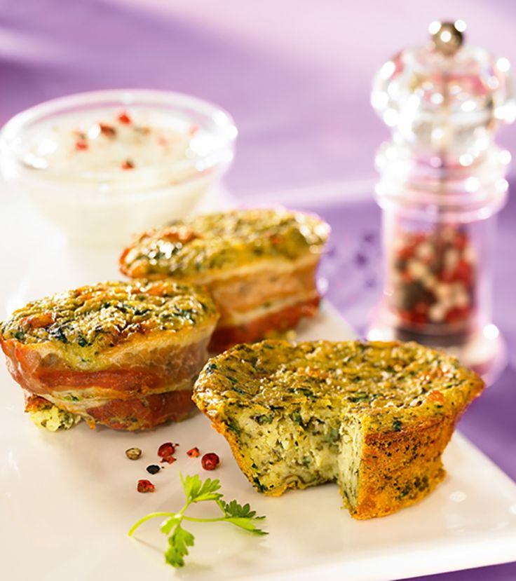 Herzhafte Muffins mit Kartoffeln und Spinat