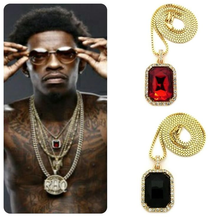 ICED OUT RUBY ONYX PENDANT GOLD CHAIN NECKLACE HIP HOP RICH GANG HOMIE QUAN SQ #Pendant
