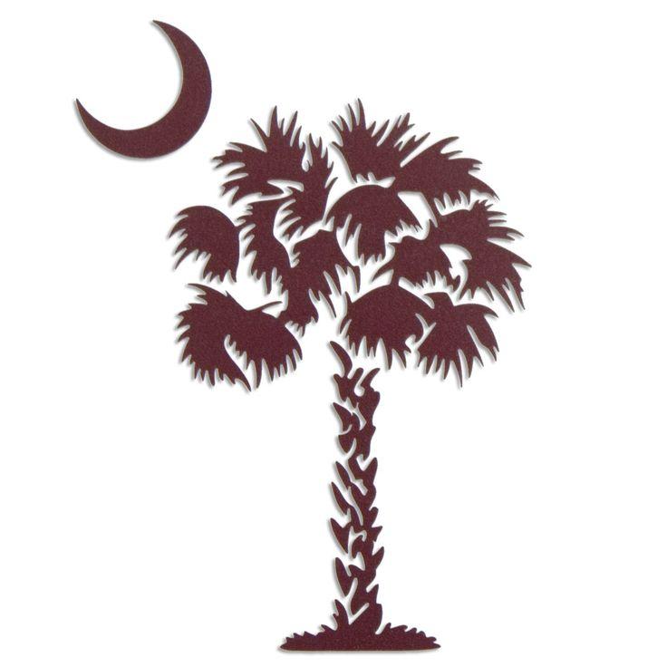 Sc Flag Tattoos: South Carolina Gamecock Garnet Palmetto Tree