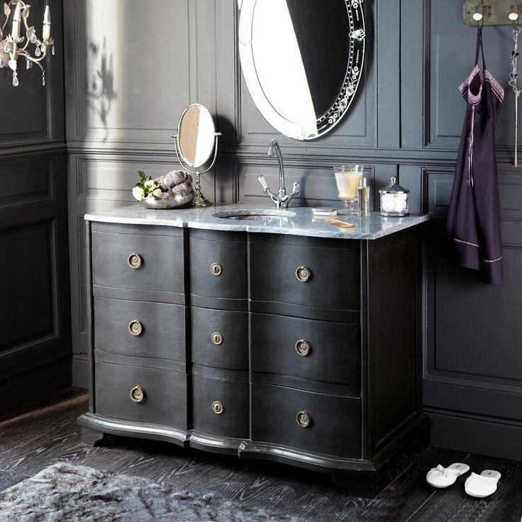 Black bathroom cabinet EUGENIE
