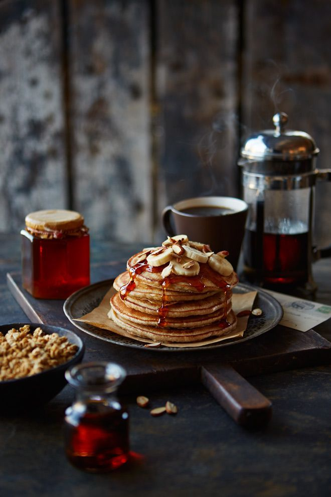 Pancakes Photographed by Lew Robertson, Food Styling by Ingrid Young, Prop Styling by Steph Fowler