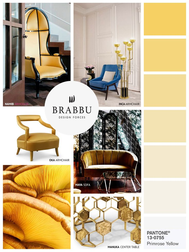 Wohnideen Moodboards | Pantone Farben | BRABBU | Luxus Möbel