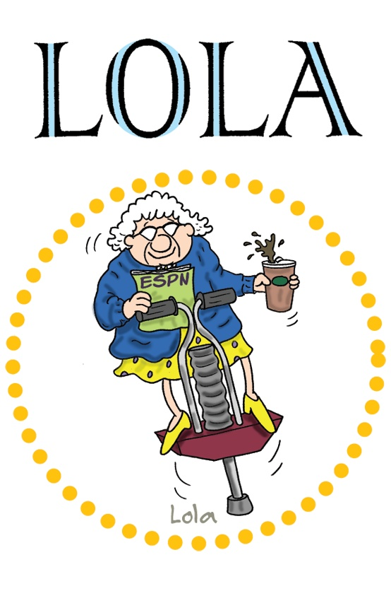 Lola by Todd Clark: Recently widowed Lola moves in with her son, Ray, and his family at his request. The potential disasters of Lola living with her anally retentive adult son and family provide the backdrop for a hilarious story about life. Life according to Lola, that is. Lola is a witty sharpshooter who's too busy living life to the fullest to worry about political correctness, exercise and proper diet.   http://gocomics.com/lola   #comics #grandparents #family   © Tribune Media Services