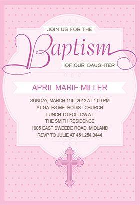 dotted pink printable invitation customize add text and photos