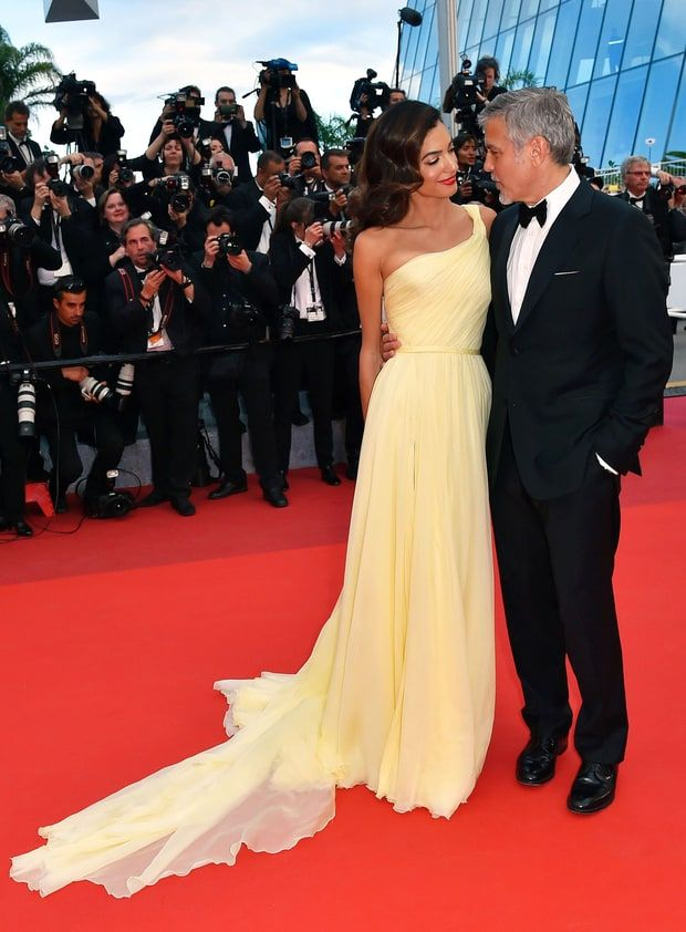 Amal Clooney Stuns in Sparkling Blue Gown on Date With ...
