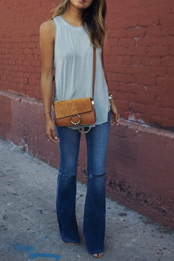 Flared Jeanss that fit perfectly is what a very Short Lady Should Own via @PureWow