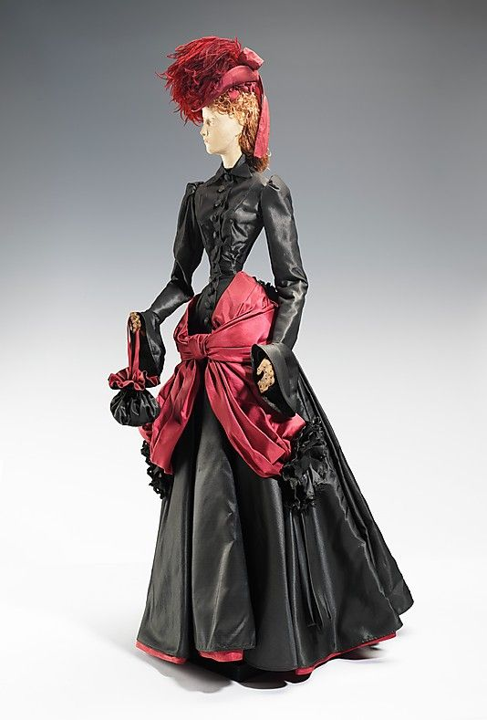 """The Metropolitan Museum of Art - """"1878 Doll"""", House of Lanvin, 1949, French. This was a fashion doll given by France to America in thanks for American donations of relief packages after the end of WW2."""