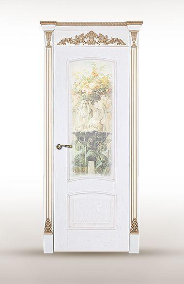 Межкомнатная дверь «Астория». Отделка «белая патина золото» #дверирулес #двери #межкомнатные #русский_лес